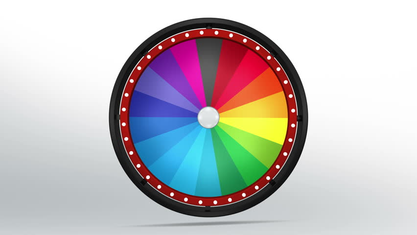 3D Illustration of  lucky spin represent the wheel of fortune concept. Three dimensional wheel graphic for use in game animation. include alpha mask. | Shutterstock HD Video #26352842