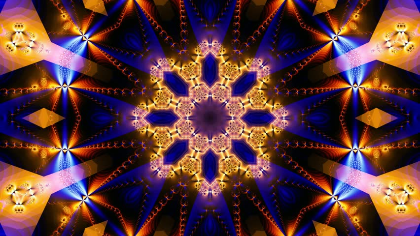 Pink kaleidoscope sequence patterns.Abstract multicolored motion graphics background. Or for yoga, clubs, shows, mandala, fractal animation. Seamless loop. | Shutterstock HD Video #26365502