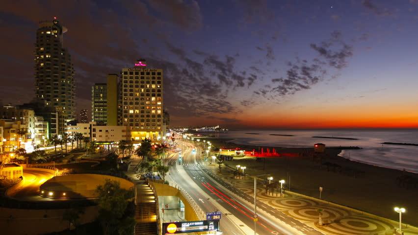 Tel Aviv Hd: Tel Aviv Skyline From Day To Night