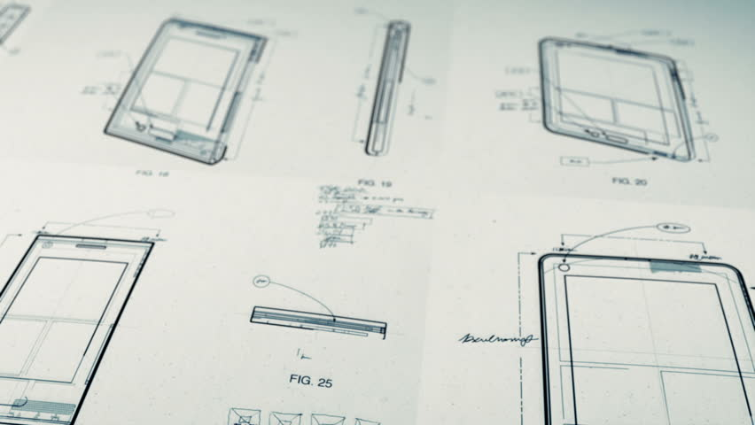 Technology Patents Drawing Animation