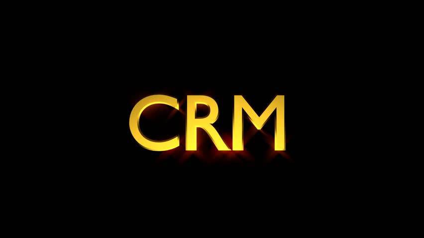 CRM Marketing animation with streaking text and motion blur
