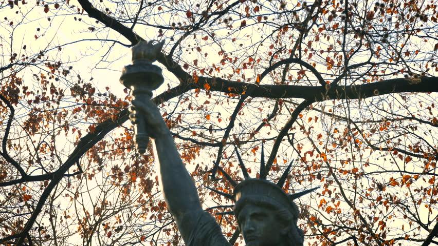 Replica of Statue of Liberty, Luxembourg Garden, Paris,ultra hd 4k, tilt | Shutterstock HD Video #26452715