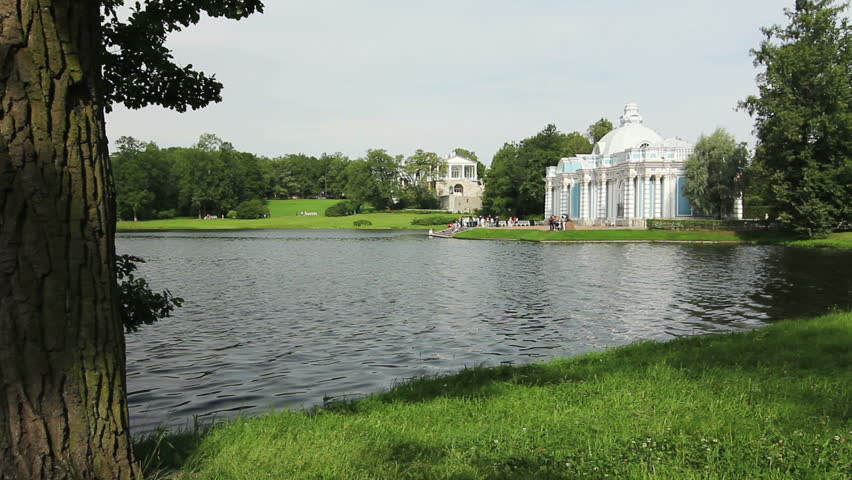 Grotto Pavilion and Lake, Tsarskoe selo, St. Petersburg, Russia