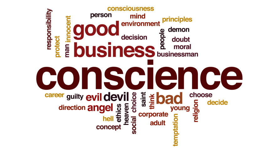 Conscience design animated word cloud, text design animation.