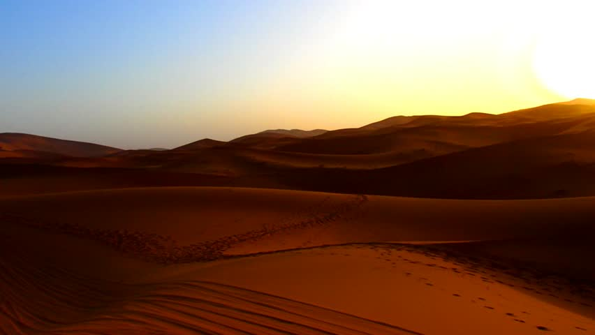 View of morrocan desert at sunrise time #26564672