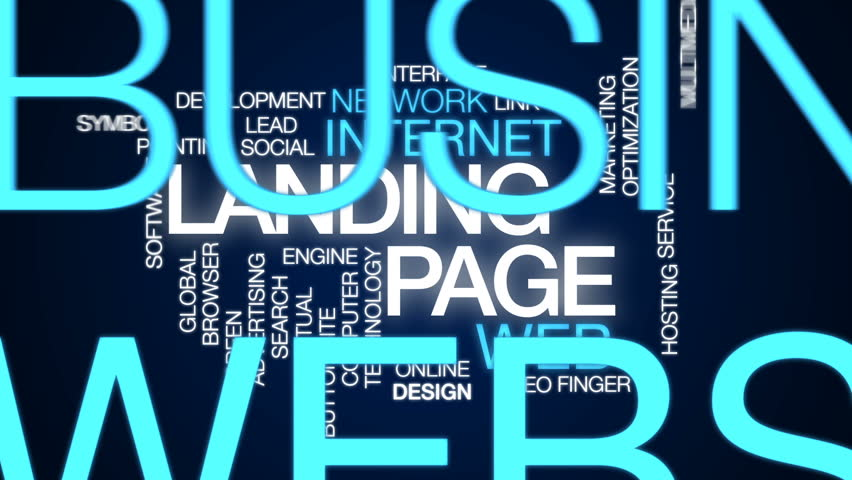 Landing page animated word cloud, text design animation. | Shutterstock HD Video #26620192
