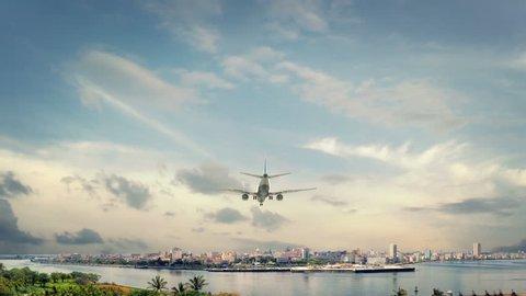 Airplane Landing Havana Cuba