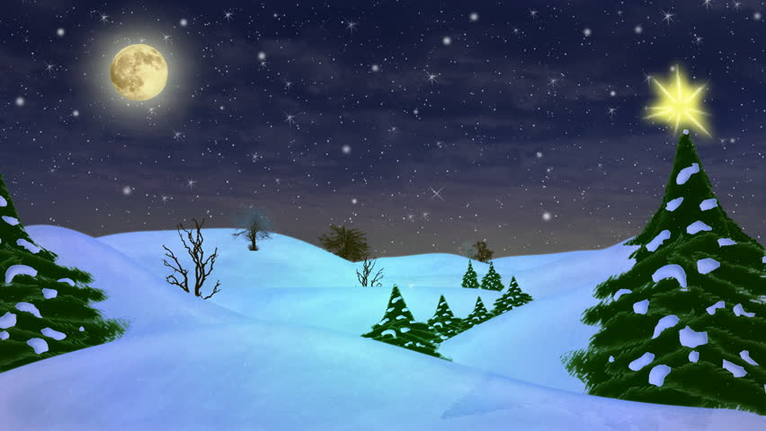 hd beautiful christmas scene animated art light snow falling and some stars twinkling art also available in my photo gallery