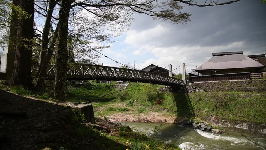 Suspension bridge of Hakuba village Otaide