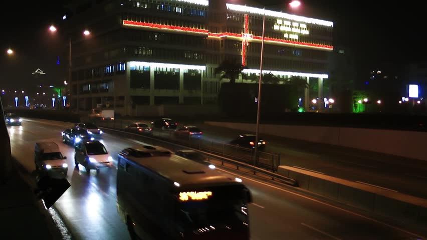 Traffic at Night | Shutterstock HD Video #26750242