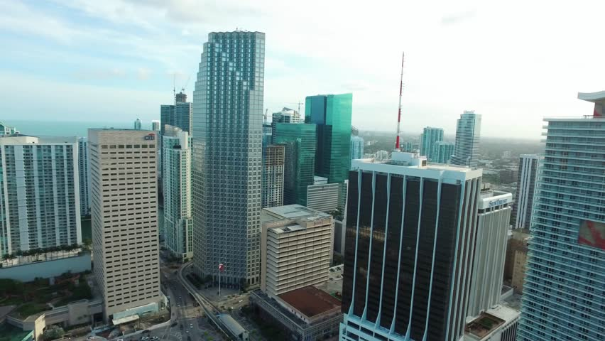 Miami Downtown. Cinematic Aerial, drone shot. Brickell view from above / Miami, Florida /  03.03.2017   Shutterstock HD Video #26778292