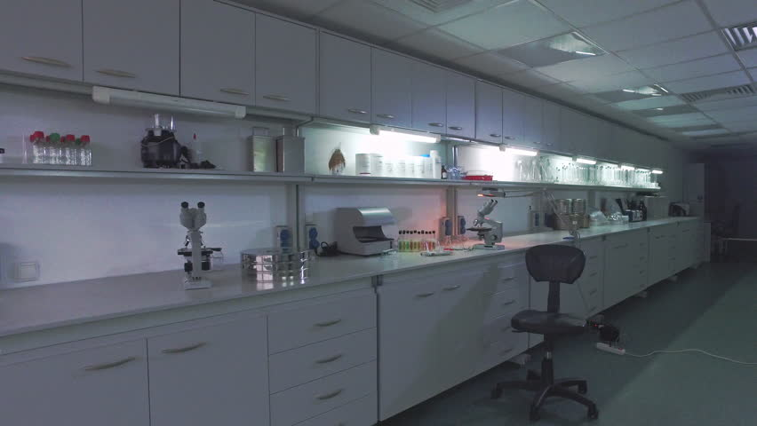Biotechnology Laboratory Table Microbiologist Working Place Steadyshot Biomedical Scientist Workspace Empty Room