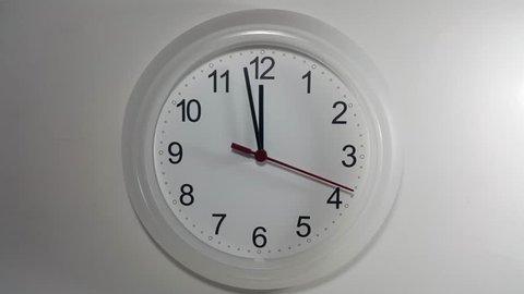Clock ticking to 12 o'clock