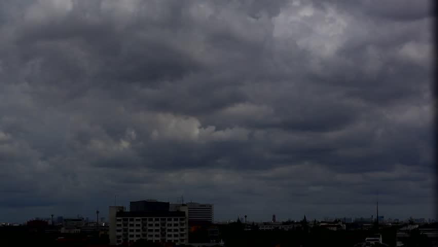 stock video clip of dark cloudy sky over city shutterstock