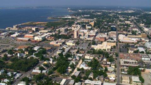 Wide view of Pensacola, Florida, to Pensacola Bay. Shot in 2007.