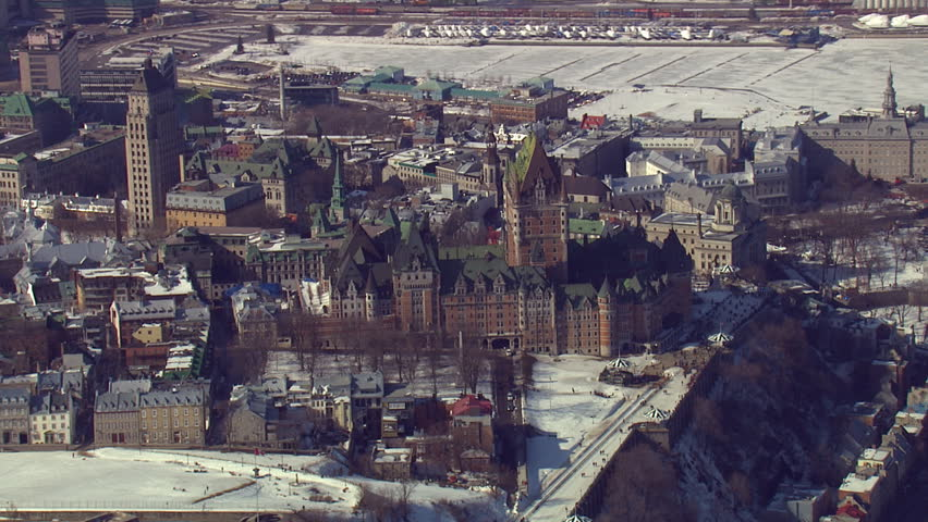 Past Chateau Frontenac in Old Quebec City, Quebec, Canada | Shutterstock HD Video #26901112