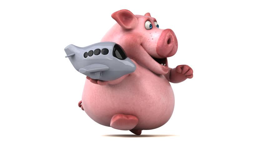 Fun pig running - 3D Animation | Shutterstock HD Video #26917192