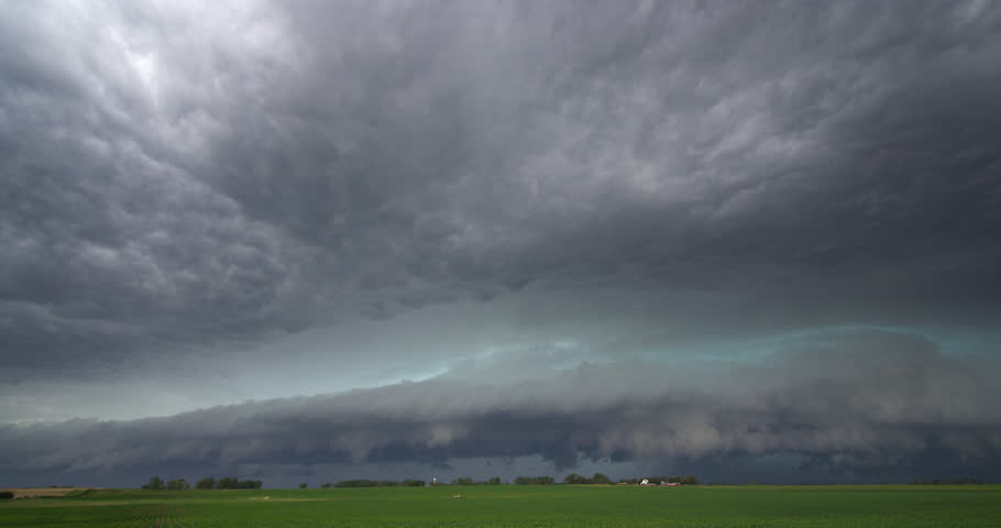 Time-lapse storm clouds over a farm in South Dakota | Shutterstock HD Video #26929072