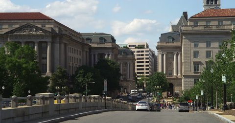 Looking north on 12th Street at Madison Drive in Washington DC. Shot in May 2012.