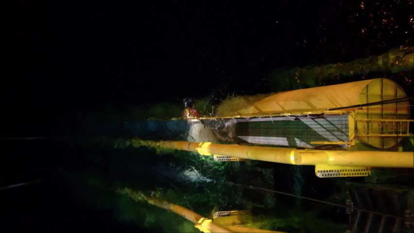Stinger structure inspection by air diver during pipeline installation at Sarawak Operation, South China Sea.