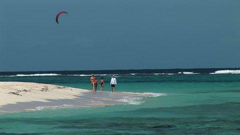 SINT MAARTEN - Circa 2008: Beautiful waters of Anquila Beach in Sint Maarten