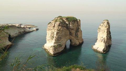 Beirut pigeon rocks lebanon