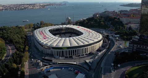 Aerial view of  BJK Stadium in istanbul