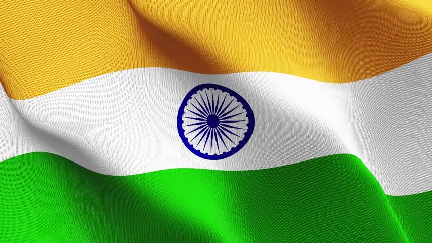 Indian Animated Flag Waving: India Shining Waving Flag