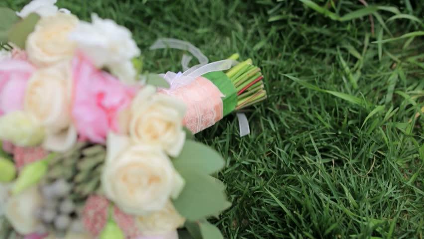 Flowers, rich bouquet, bridal bouquet, beautiful flowers | Shutterstock HD Video #27199384