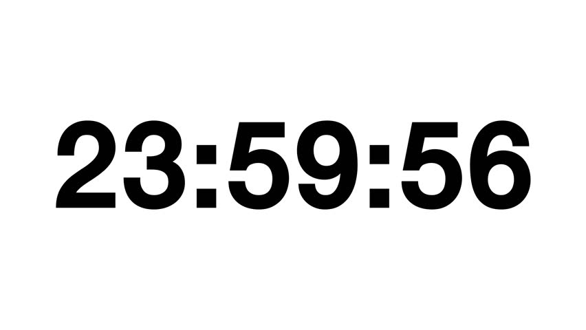 Countdown of 24 Hours  Digital Stock Footage Video (100% Royalty-free)  27209962 | Shutterstock
