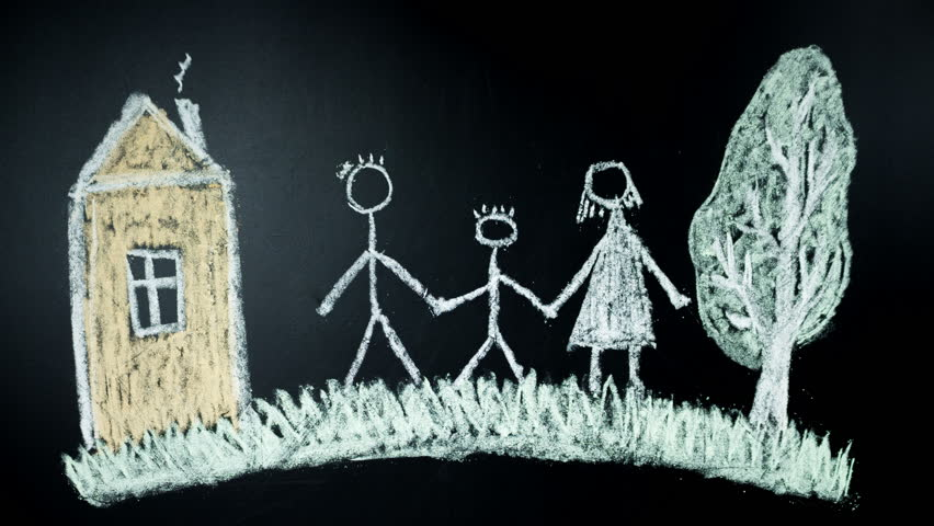 Family. The hand draws by chalk on a board | Shutterstock HD Video #27224782