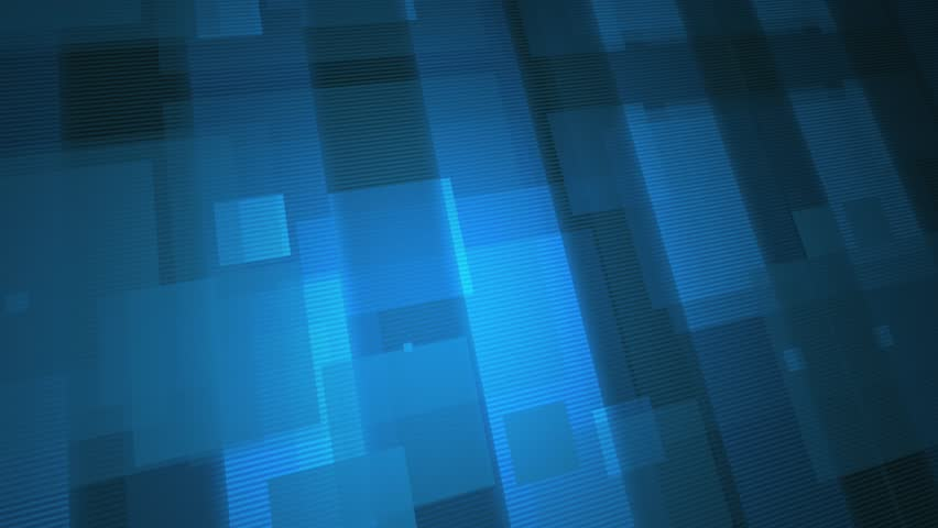 Abstract CGI motion graphics and animated background with blue squares