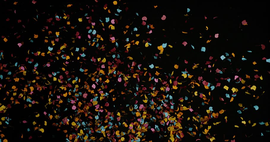 4k Confetti Realistic Overlay For Your Holiday Projects