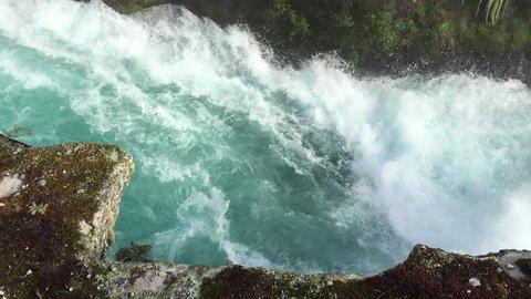 Huka Falls near Lake Taupo in the North Island of New Zealand