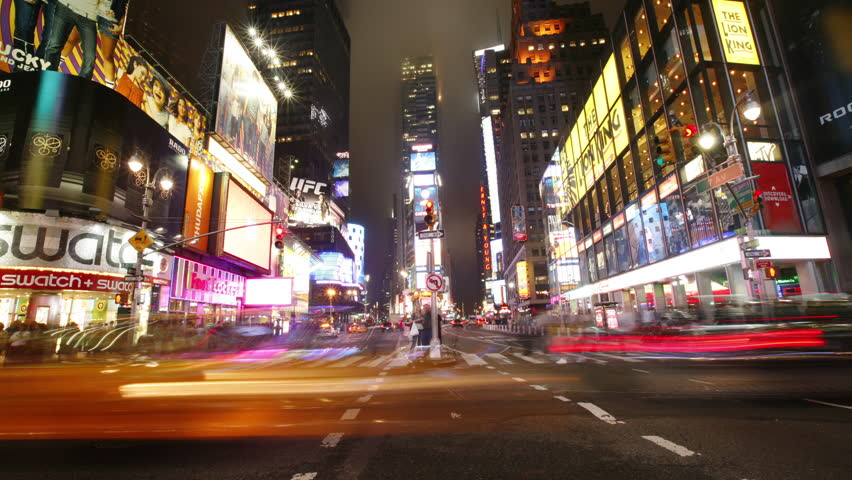 Circa-2007, 4K time lapse shot of Times Square in New York City, NY | Shutterstock HD Video #27566245