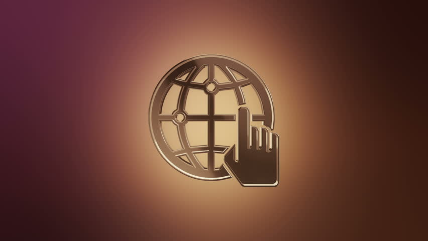 Animation rotation symbol of social network or technologic of global communication. Animation of seamless loop. | Shutterstock HD Video #27604312