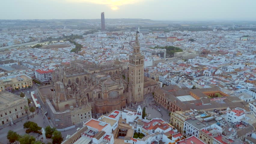 Aerial View of Seville City in Spain | Shutterstock HD Video #27646012