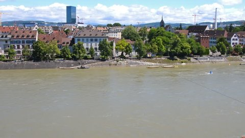 Time lapse of the famous chain ferry in Basel, Switzerland. It cross the Rhine river with no motor - just using the current.