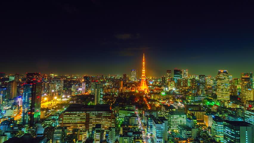 4K.Time lapse city landscape cityscape at Tokyo city asia japan
