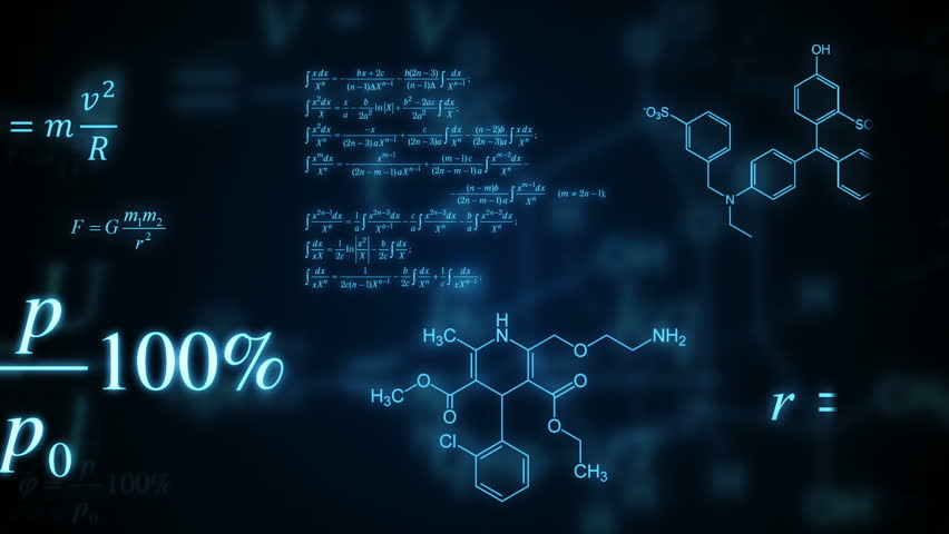 3d motion graphic chemical compound formula projection for Large 3d numbers