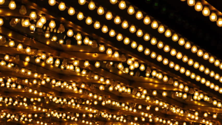 Out Of Focus Bokeh Broadway Theater Marquee Dancing Lights