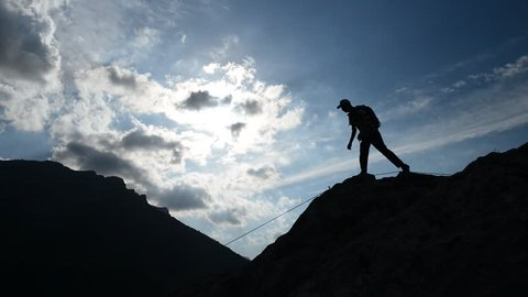 successful rock climbing & ambitious and determined & climbing activities