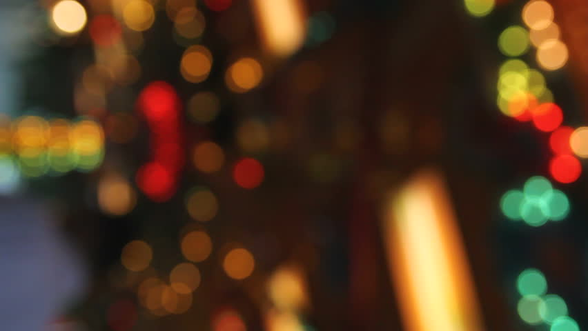 defocused lights at funfair