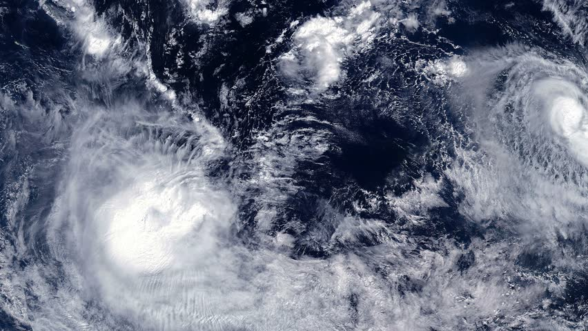 Tropical Cyclones DONNA and ELLA - South Pacific - May 2017 - NASA's satellite image. Some of the video elements furnished by NASA