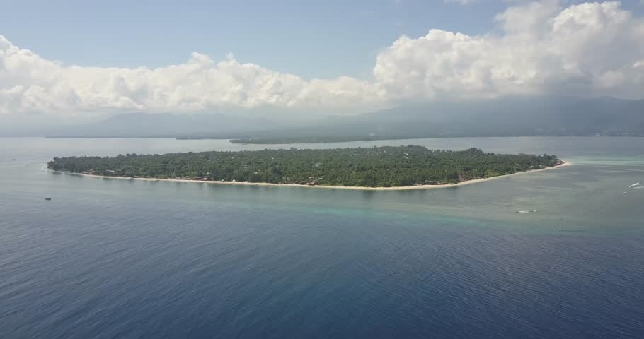 Aerial View of Gili Air Island in Lombok Indonesia