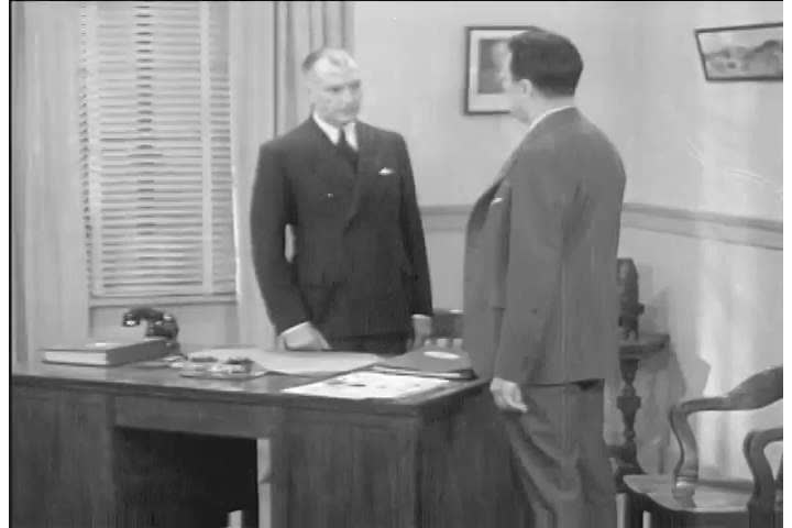 1930s: Salesmen meet in an office and discuss selling Pennzoil motor oil, referencing a bonded dealer sign and a can rack, in 1935.