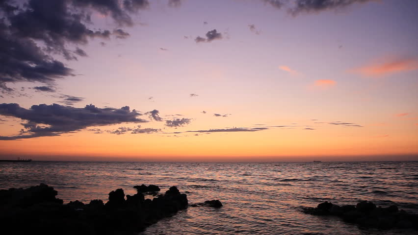 The coastline at sunset | Shutterstock HD Video #2808712