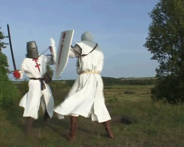 2 Sept., 2008. Pskov. Russia. Citizens are preparing to masquerade - in disguise residents and medieval knights
