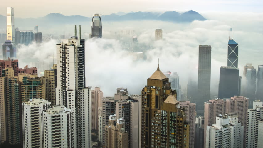 Time Lapse Hong Kong Skyline from Famous Peak View