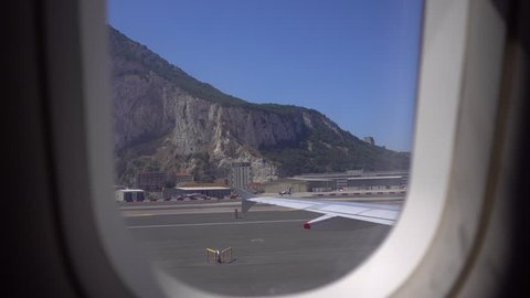 Gibraltar Rock from the plane window